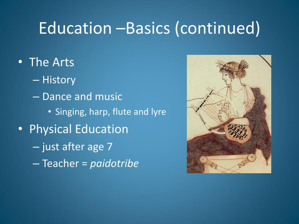 Education –Basics (continued)