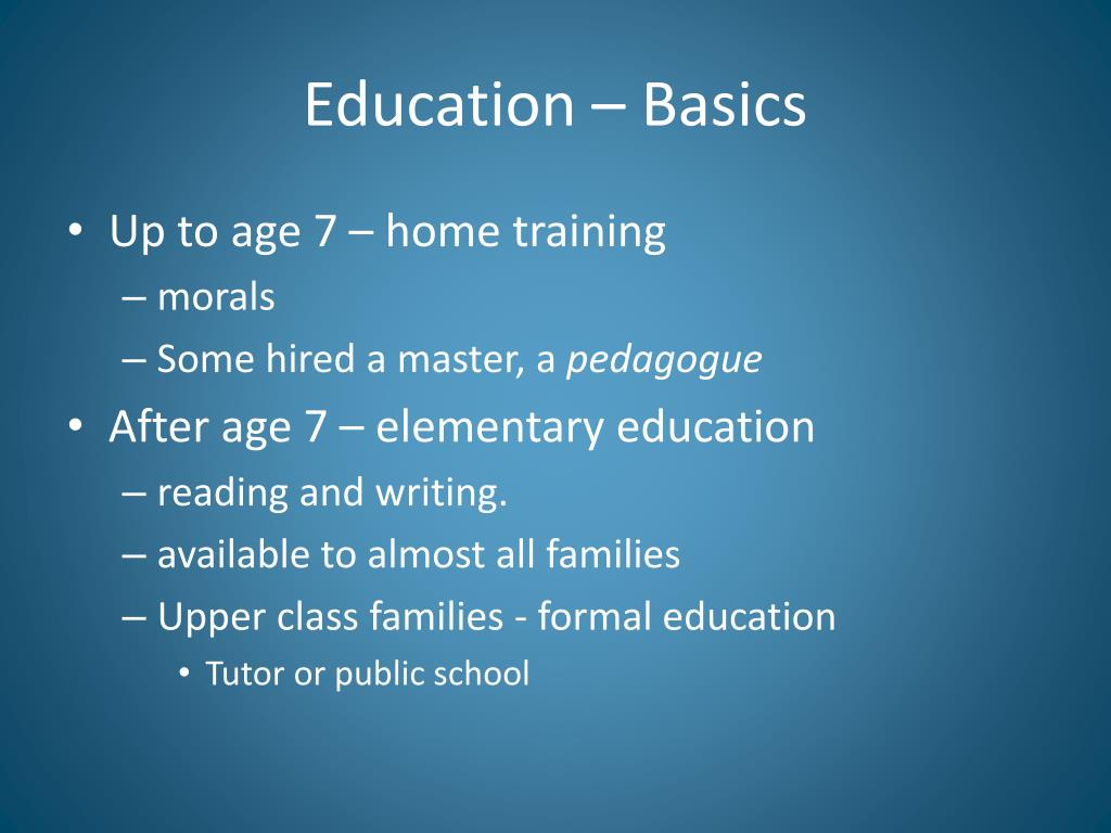 Education – Basics