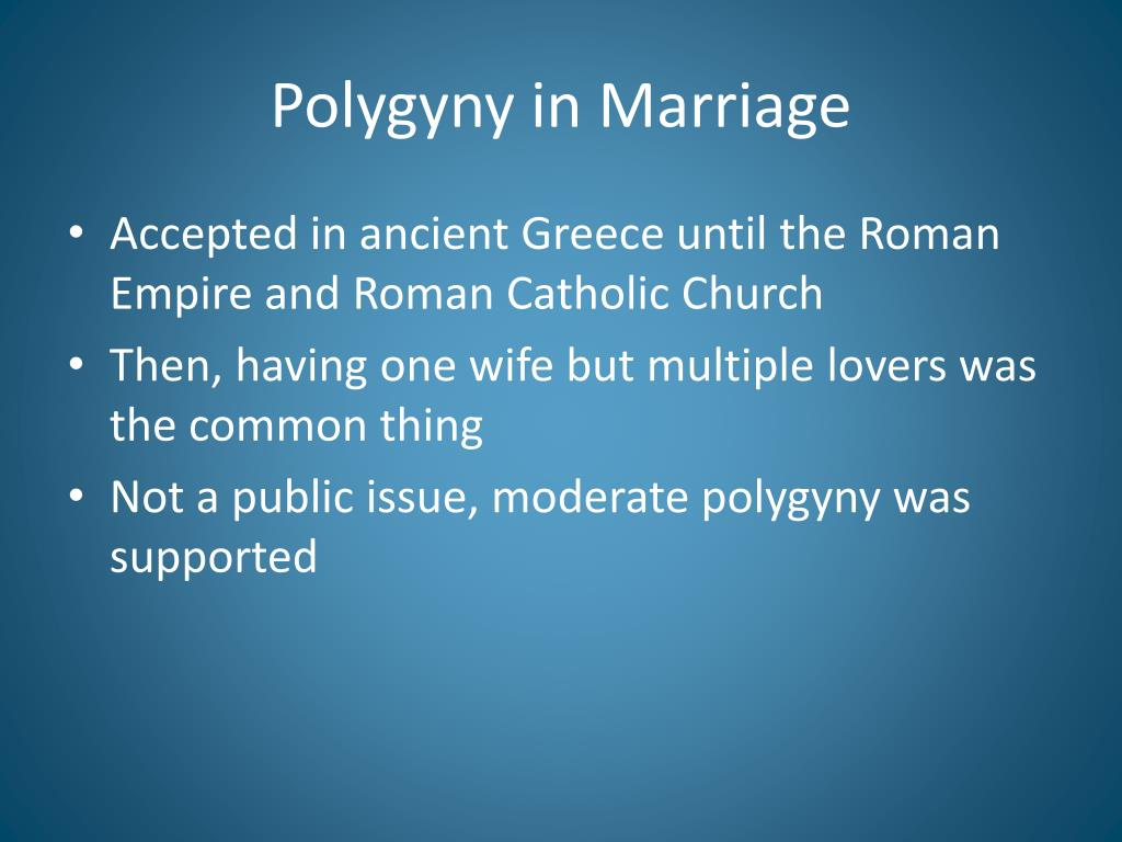 Polygyny in Marriage
