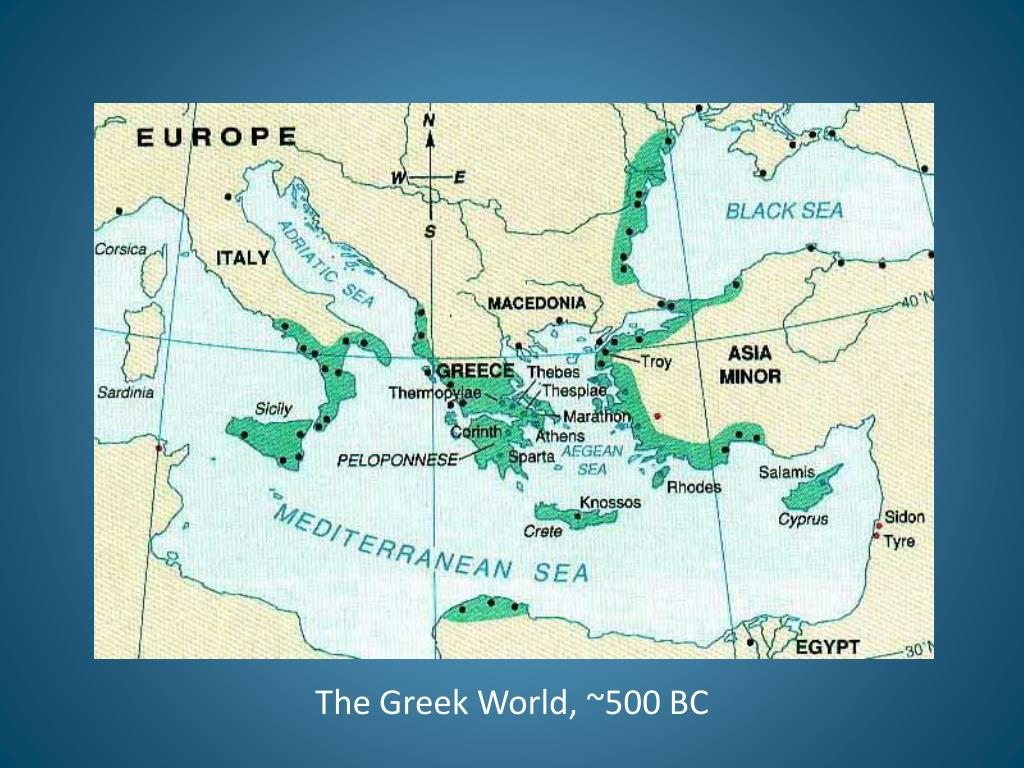 The Greek World, ~500 BC