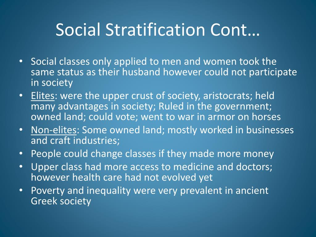 Social Stratification Cont…