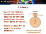 7 1 gears