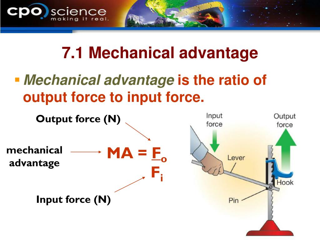 7.1 Mechanical advantage