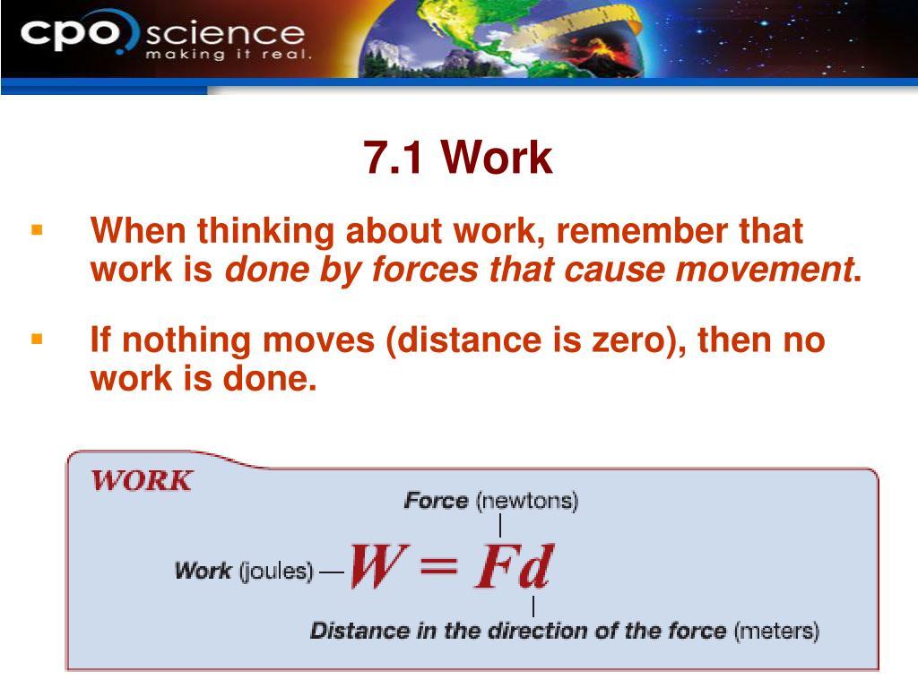 7.1 Work