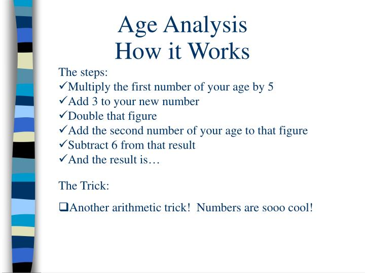 Age Analysis