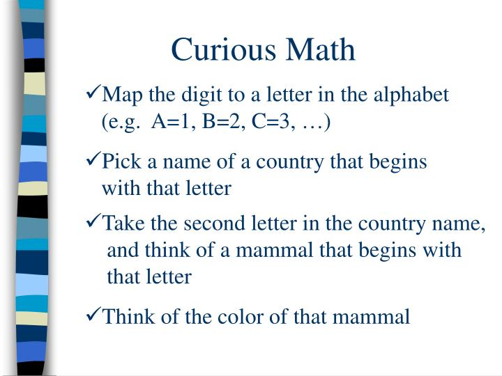Curious Math
