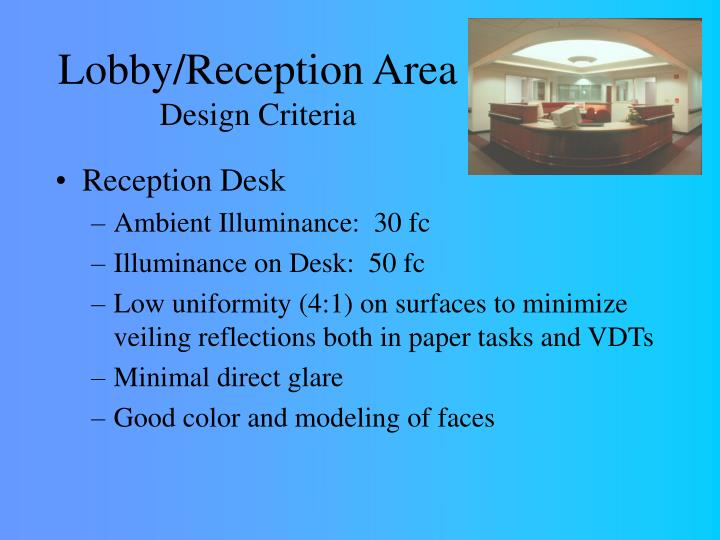 Lobby/Reception Area