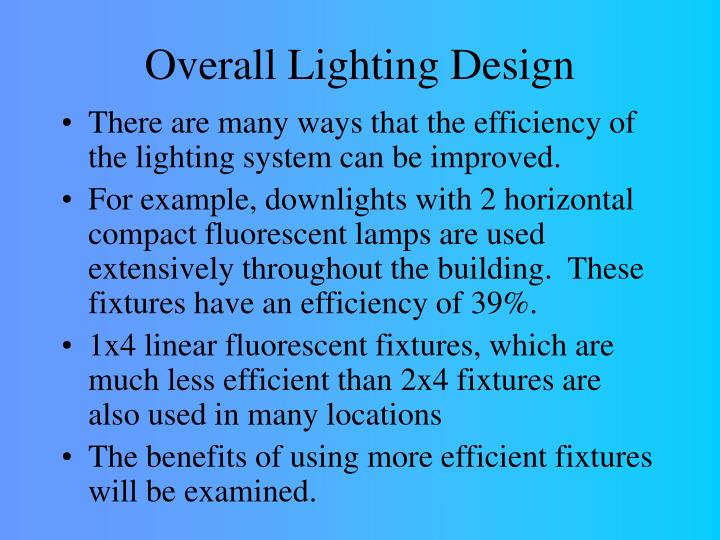 Overall Lighting Design