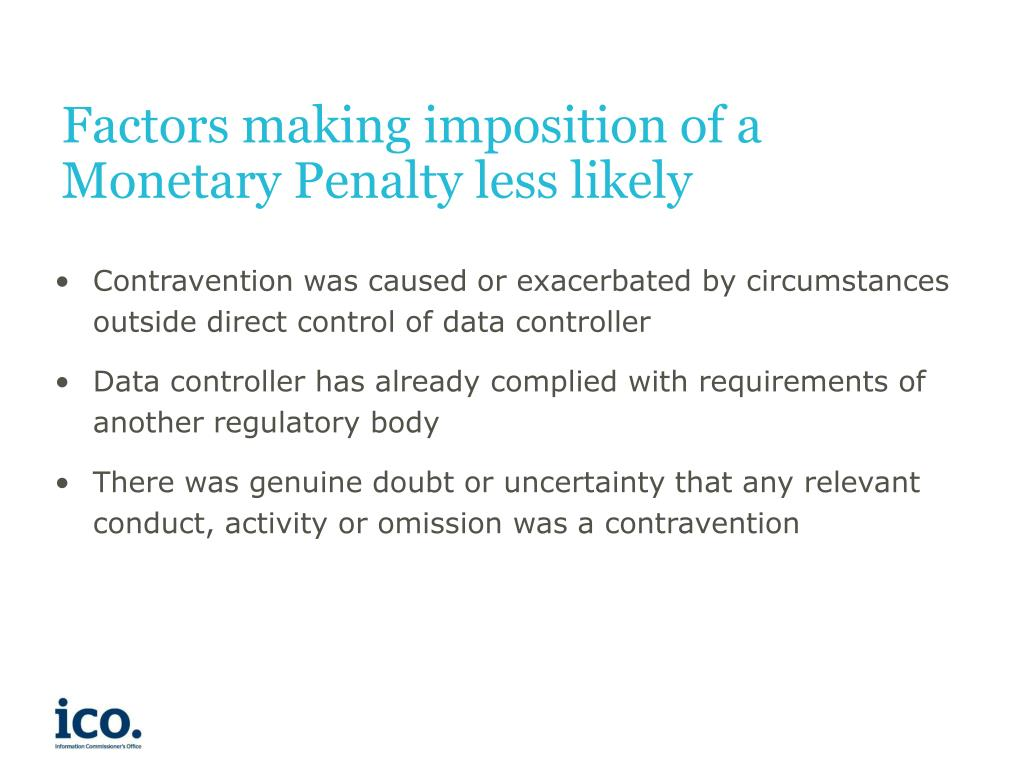Factors making imposition of a