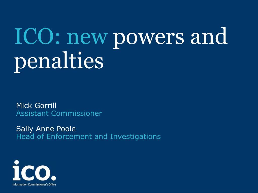 ICO: new