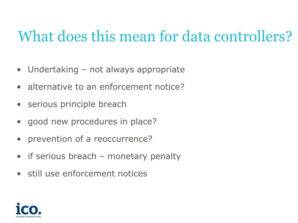 What does this mean for data controllers?