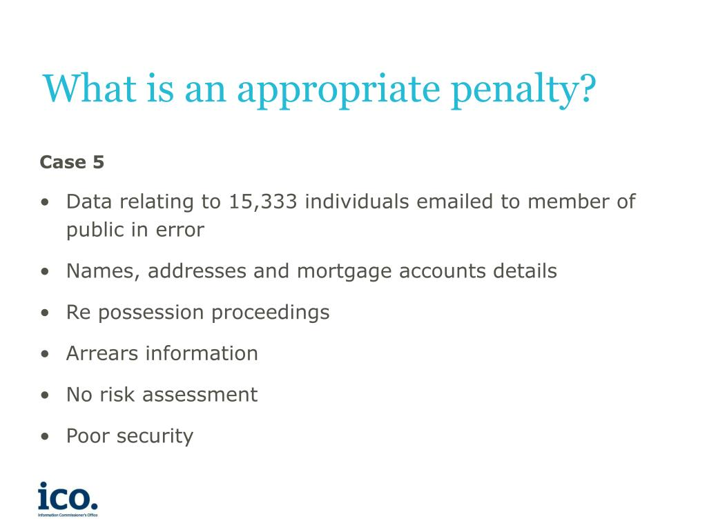 What is an appropriate penalty?
