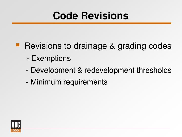 Code Revisions