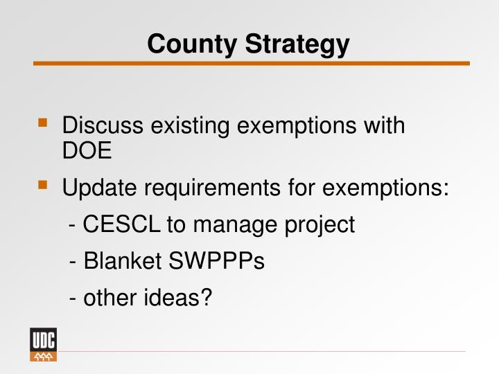 County Strategy