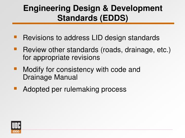 Engineering Design & Development Standards (EDDS)