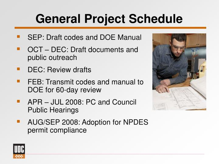 General Project Schedule