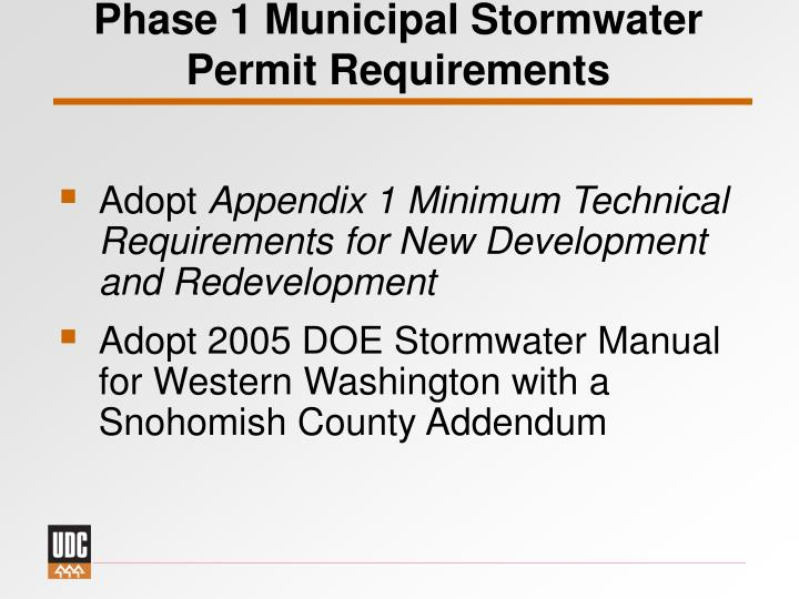 Phase 1 Municipal Stormwater
