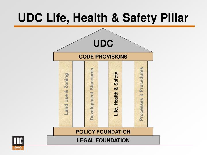 Udc life health safety pillar