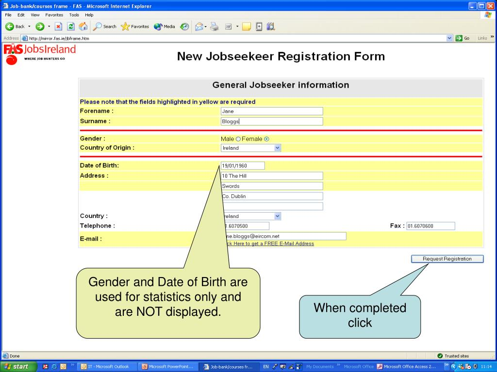 Gender and Date of Birth are used for statistics only and are NOT displayed.