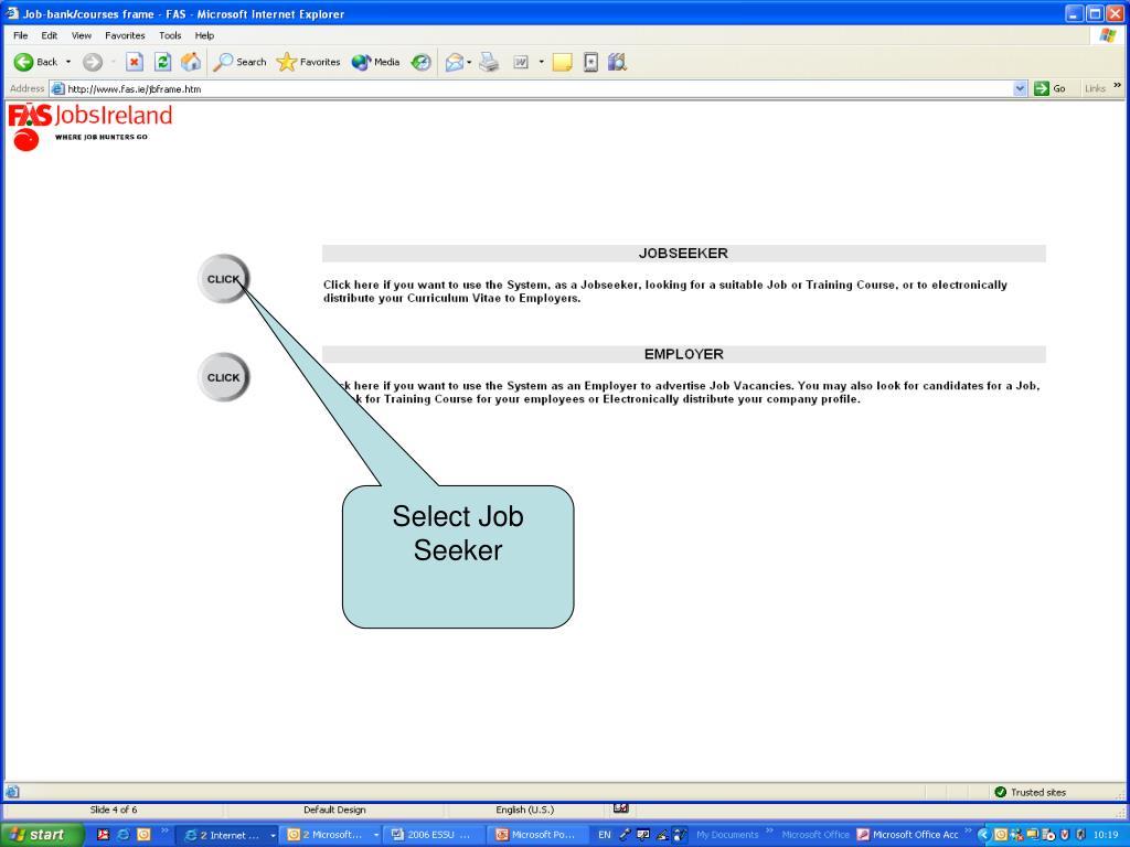 Select Job Seeker