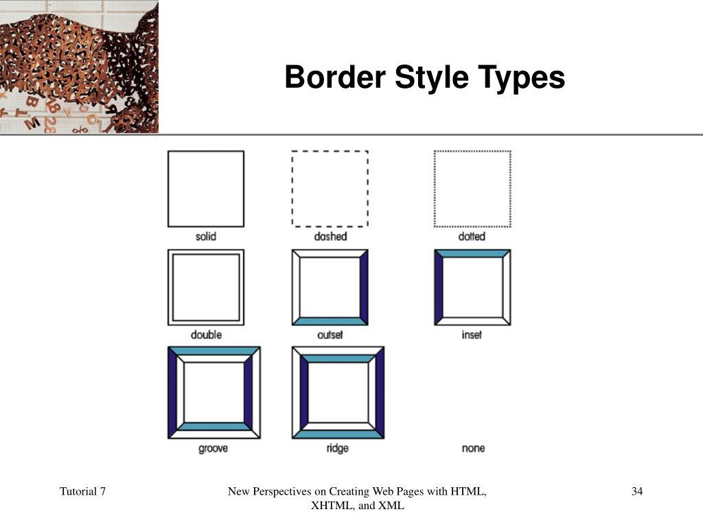 Border Style Types