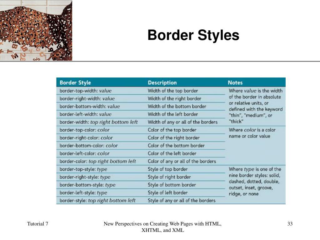 Border Styles