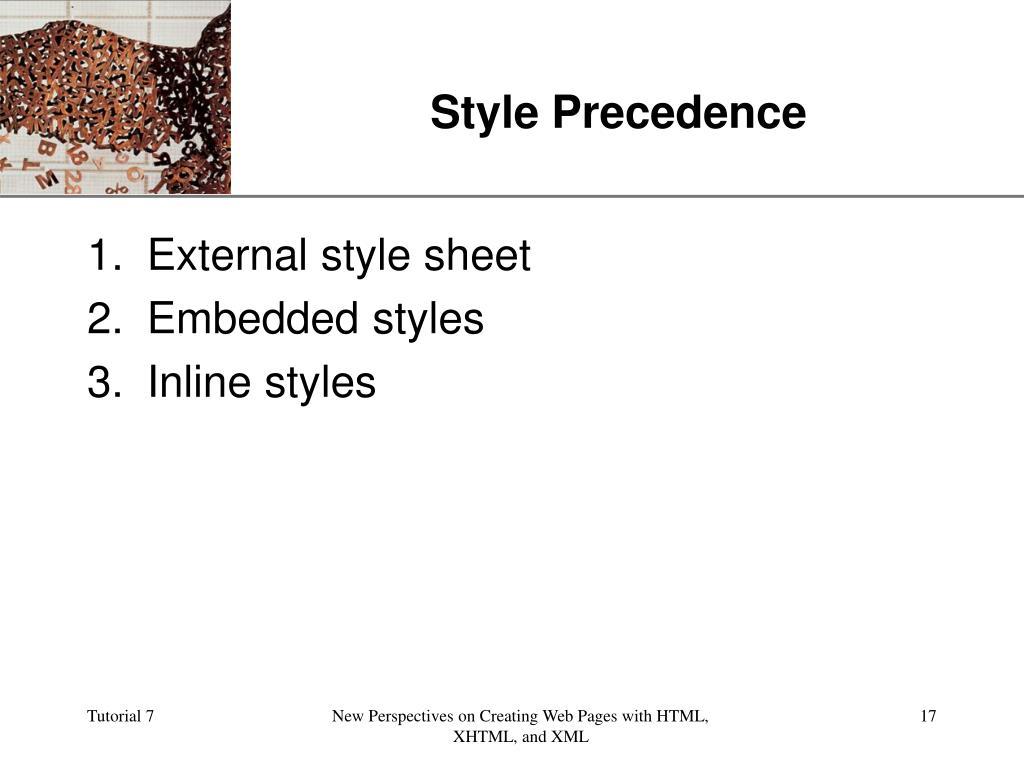 Style Precedence
