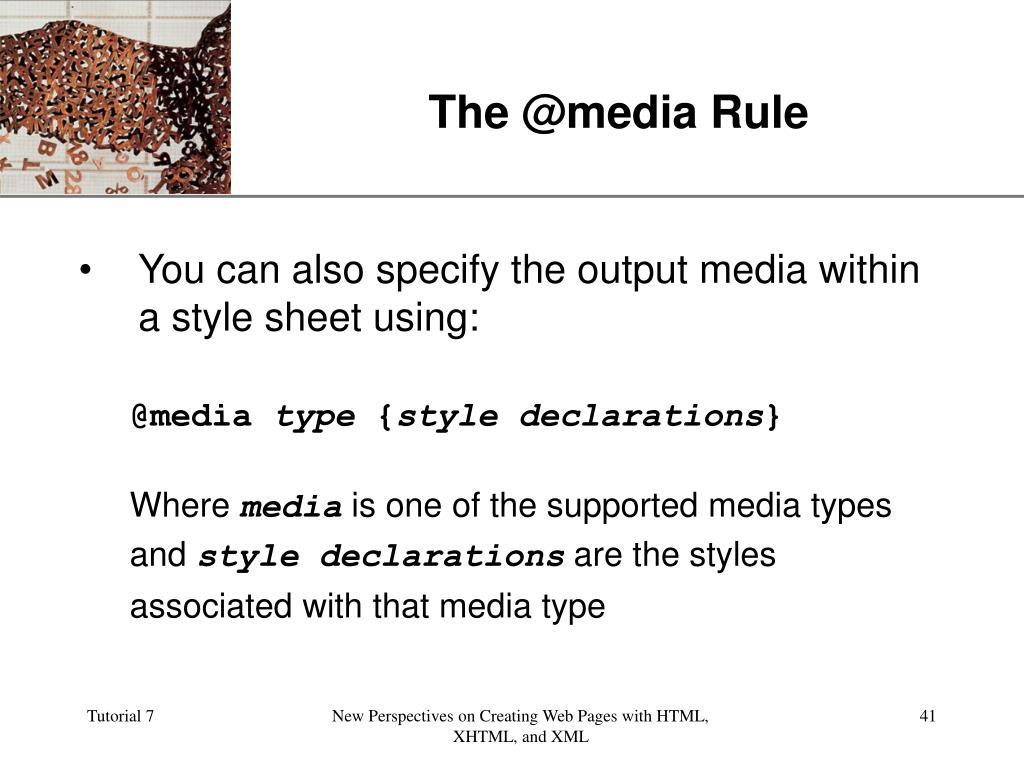 The @media Rule