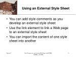 using an external style sheet13