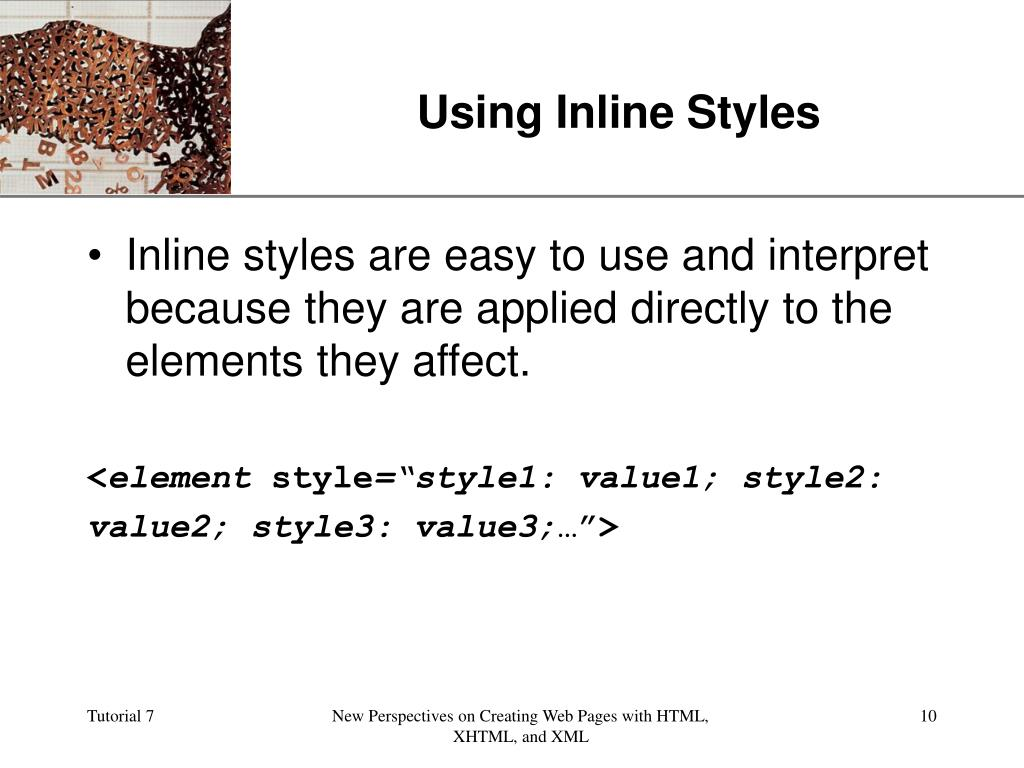 Using Inline Styles