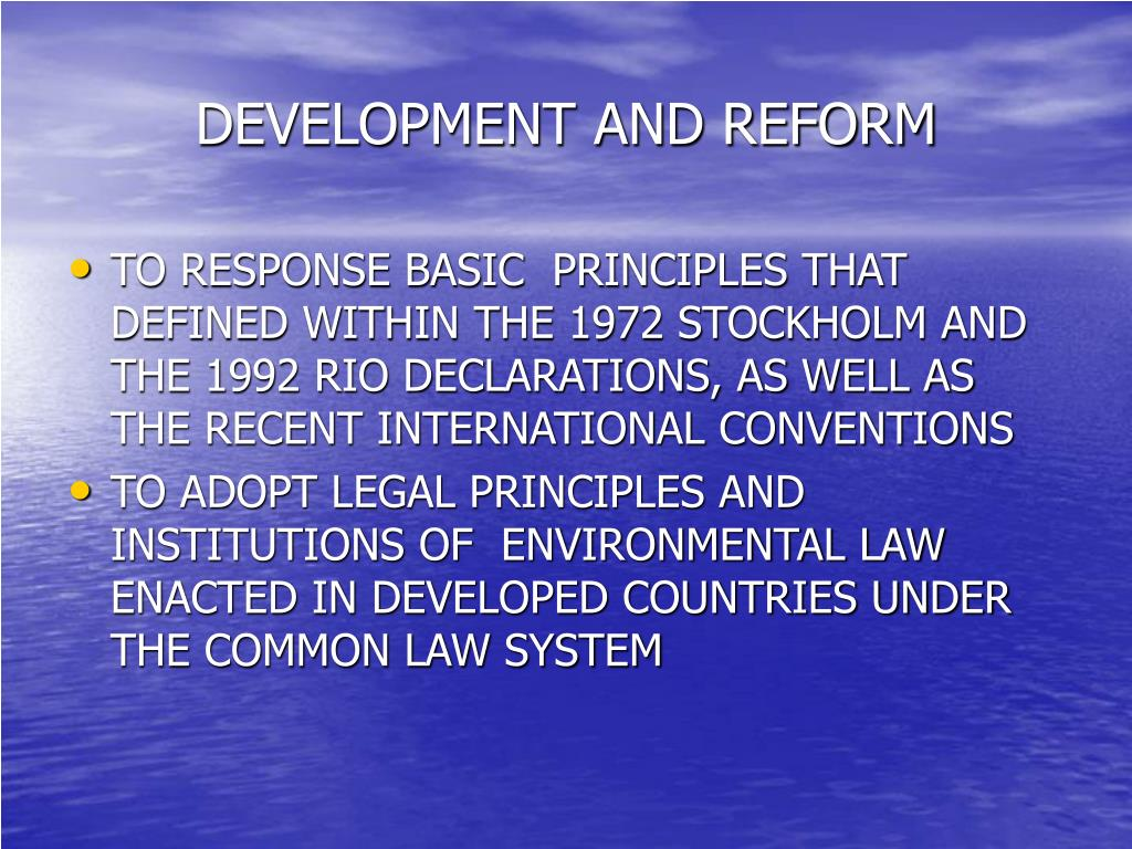 DEVELOPMENT AND REFORM