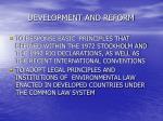 development and reform