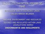 dutch colonization period of time