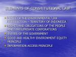 elements of constitutional law