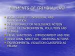 elements of criminal law