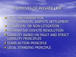 elements of private law
