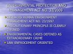 environmental protection and management act no 32 2009