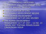 the un conference on human environment and development 1992 in rio de janeiro brazilia