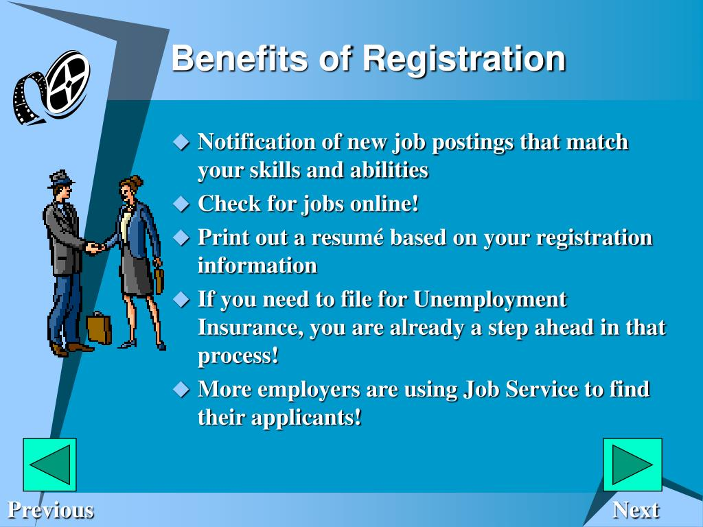 Benefits of Registration