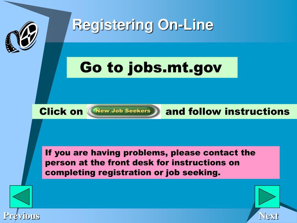 Registering On-Line