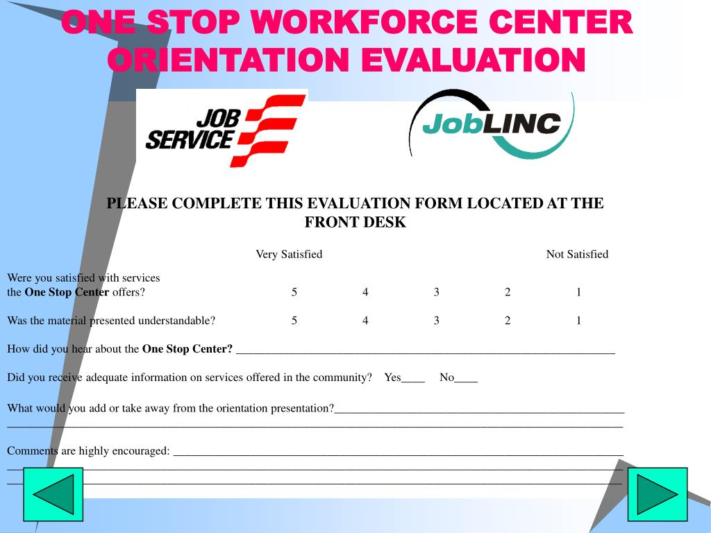 ONE STOP WORKFORCE CENTER