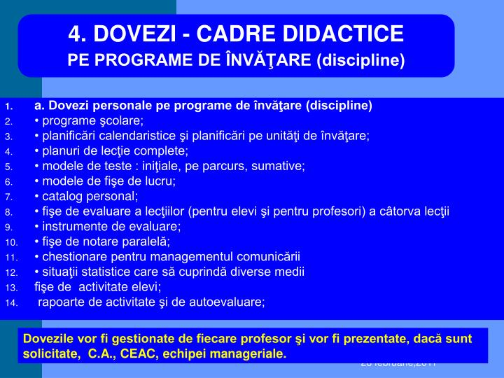 4.DOVEZI - CADRE DIDACTICE