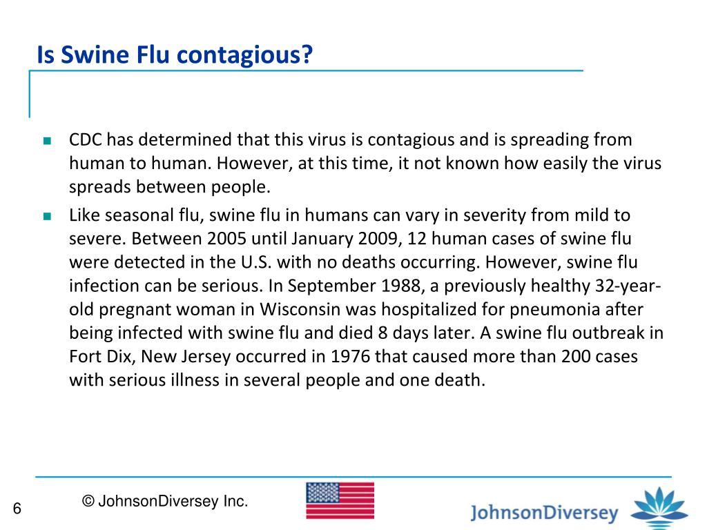 Is Swine Flu contagious?