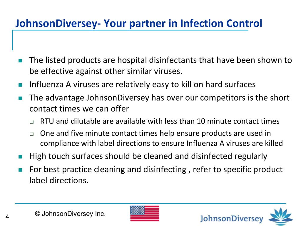 JohnsonDiversey- Your partner in Infection Control