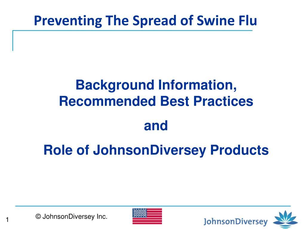 Preventing The Spread of Swine Flu
