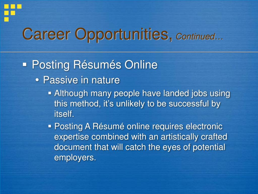 Career Opportunities,