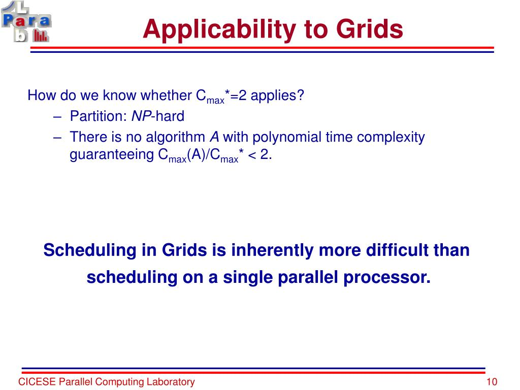 Applicability to Grids