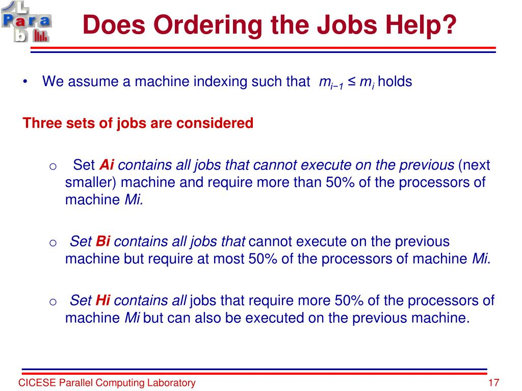 Does Ordering the Jobs Help?