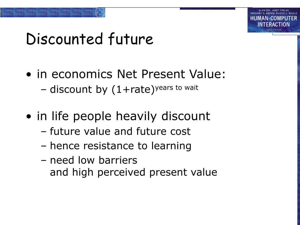 Discounted future