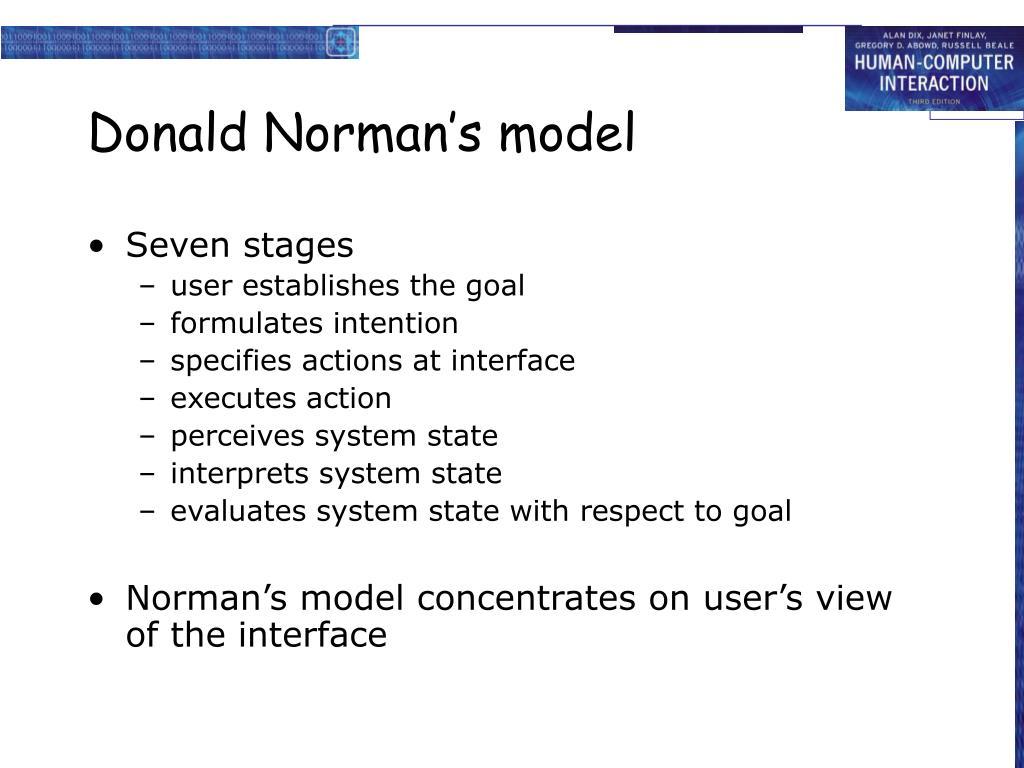 Donald Norman's model